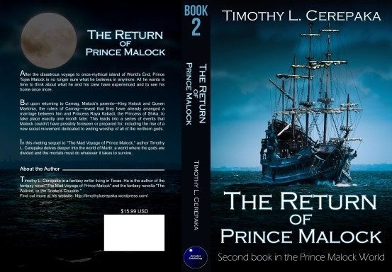 The Return of Prince Malock cover